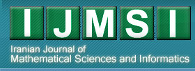 Iranian Journal of Mathematical Sciences and Informatics